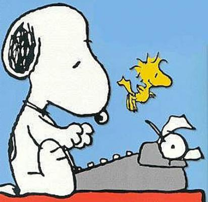 snoopy writing Peanuts by charles schulz for mar 24, 2018 | gocomicscom.
